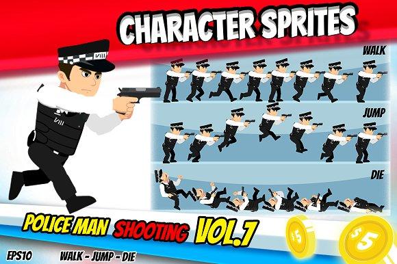 Character Sprite Policeman GUN 7