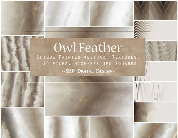 Owl Feather Abstract Paint Textures
