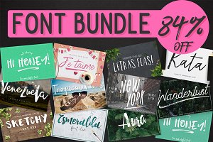 16 FONTS IN ONE - 84% DISCOUNT!!
