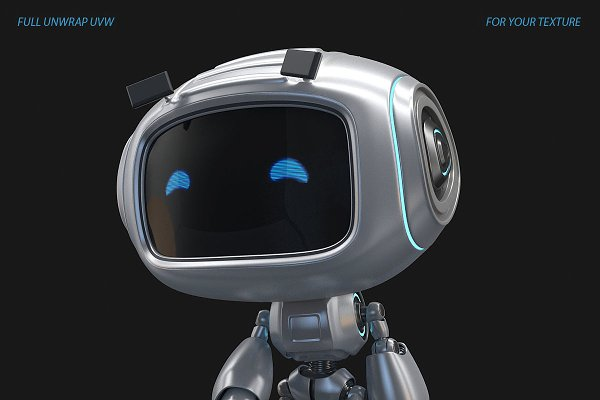 3D Characters: Sci-Fi Shop - Toy Droid Rigged