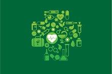 Health and Medicine vector icon set