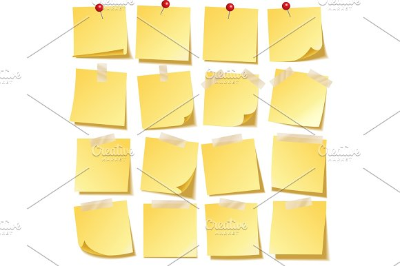 Sticky Note With Shadow Isolated On Transparent Background Yellow Paper Message On Notepaper.Reminder Vector Illustration