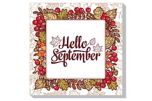 Hello September. Autumn frame