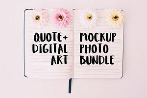 Quote/Digital Art Mockup Bundle