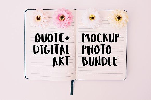 Quote Digital Art Mockup Bundle