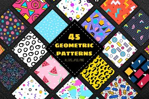 45 geometric patterns