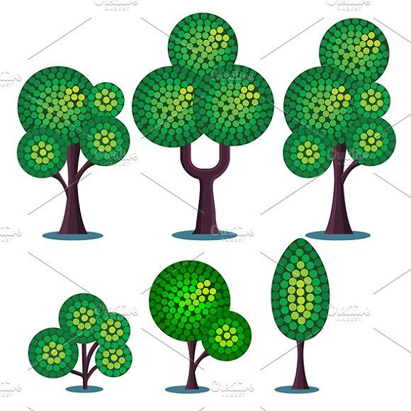 Stylized Plants Set