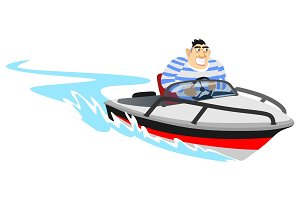 Jet ski water extreme sports, isolated design element for summer vacation activity concept, cartoon wave surfing, sea beach vector illustration, active lifestyle adventure