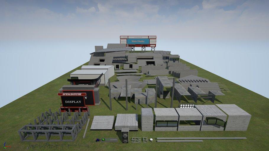 Modular Stadium Kit For Game Engines