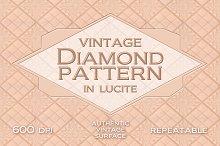 Vintage diamond pattern in lucite