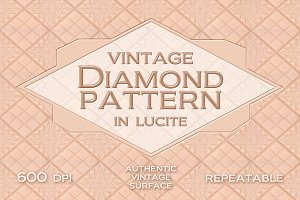 Vintage diamond pattern in lucite
