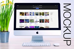 Mockup for iMac