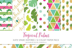 Tropical Palms Digital Paper