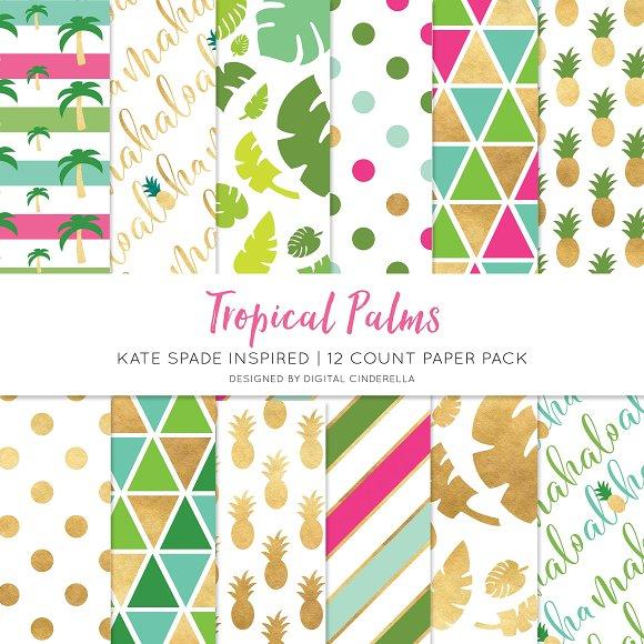 Tropical Palms Digital Paper