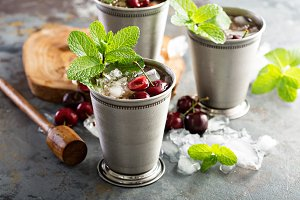 Summer mint julep cocktail