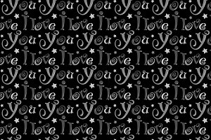 Seamless pattern I love you