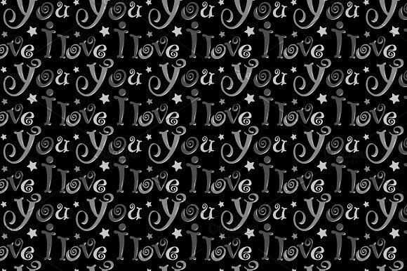 Seamless Pattern I Love You