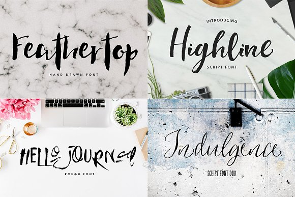 112 Fonts & Graphics Bundle SALE - Script