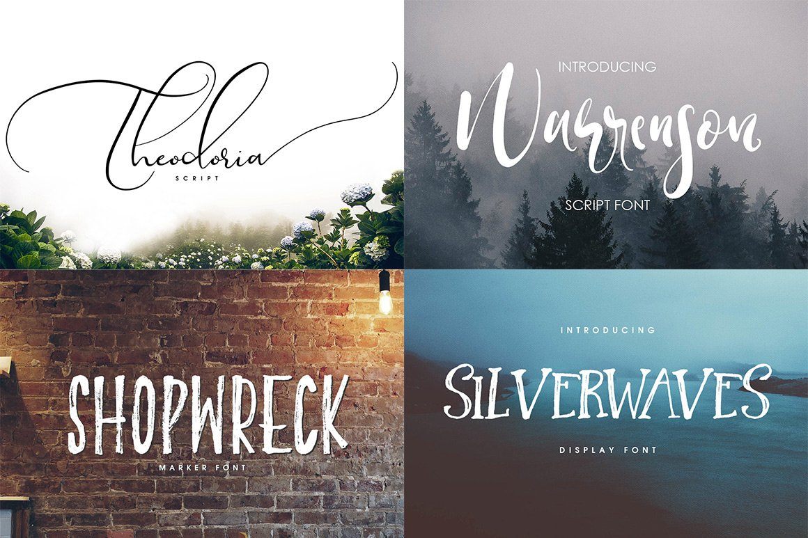 102 Fonts & Graphics Bundle - Script - 9