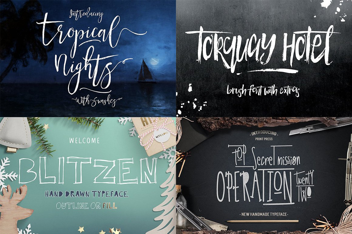 102 Fonts & Graphics Bundle - Script - 19