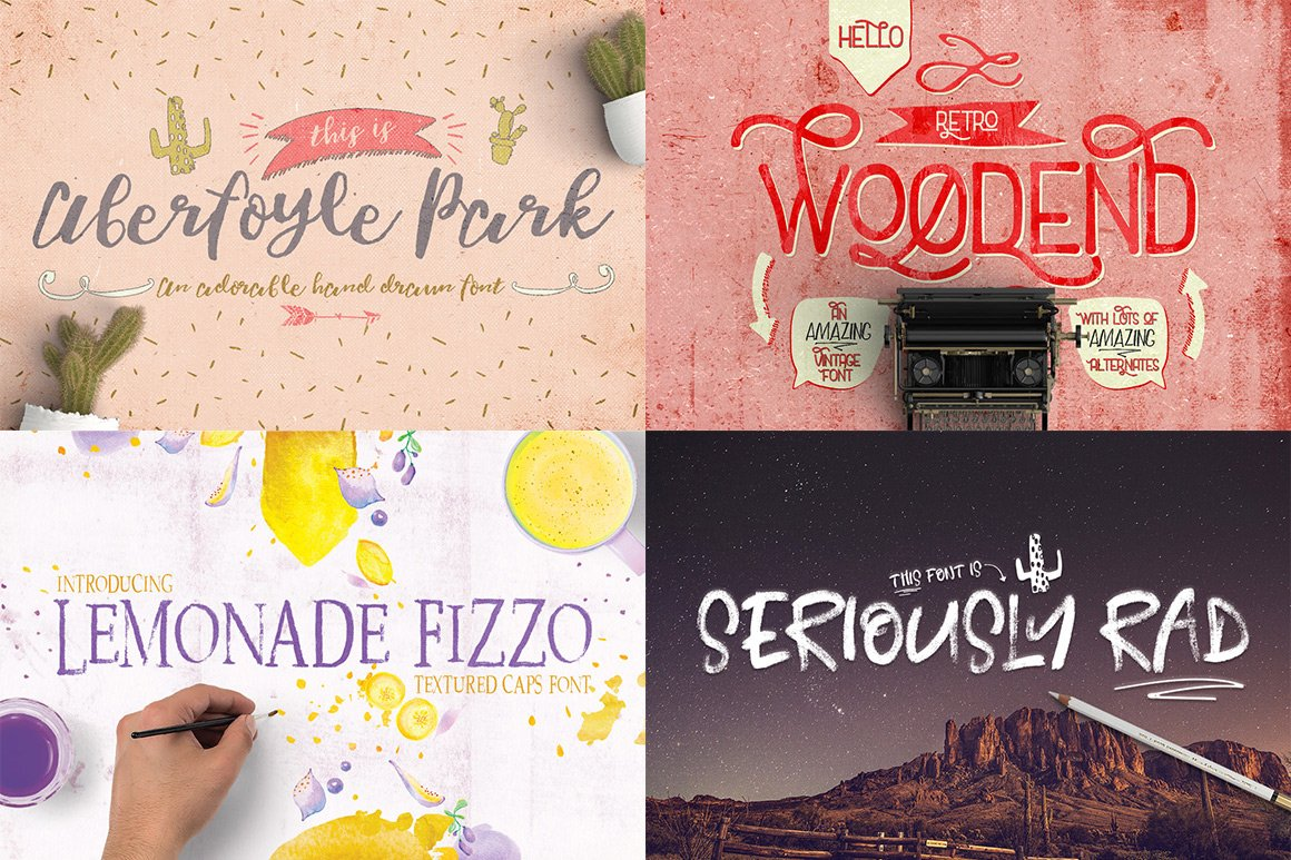 102 Fonts & Graphics Bundle - Script - 22