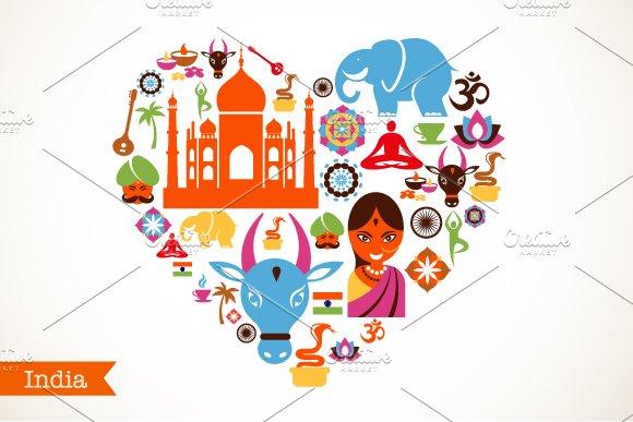 India love ~ Illustrations ~ Creative Market