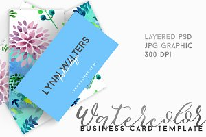 LYNN Watercolor Floral Business Card