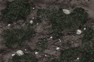 Zbrush - Grass, Mud, Puddles