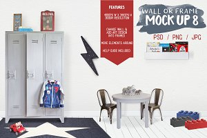 Kids Room Wall/Frame Mock Up 8