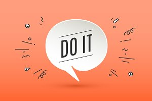 Motivation positive poster Do It