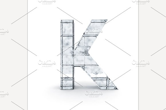 Alphabet Made Out Of Ice