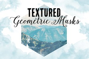 Textured Geometric Masks & PNG