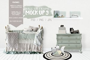 Kids Room Wall/Frame Mock Up 9