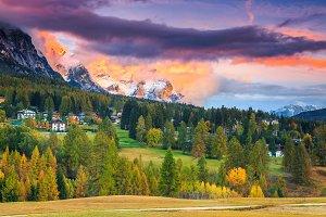 Alpine autumn landscape, Italy