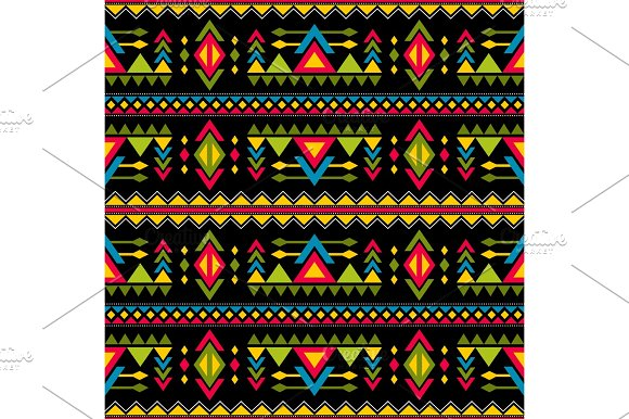 Navajo Weaving Fashion Seamless Vector Pattern Vintage Tribal Art Print Of Ethnic African Endless Background