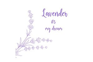 Beauty lavender skin care design.
