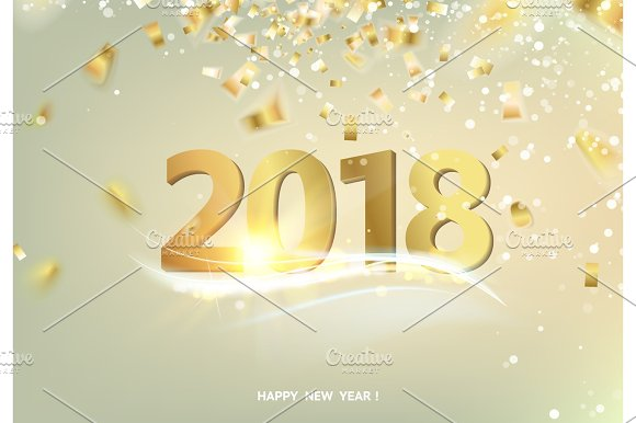 The Happy New 2018 Year Card