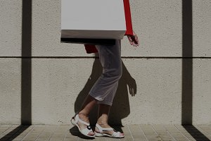Woman shopping lifestyle
