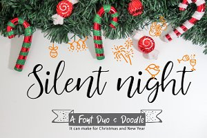Silent night | Font Duo