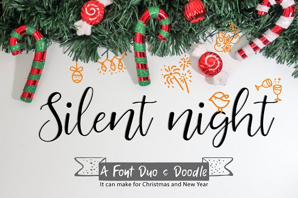 Silent Night Font Duo