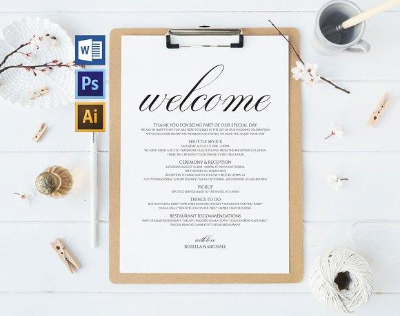 Wedding Itinerary Wpc327
