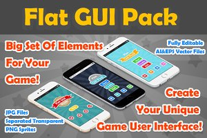 Flat Game User Interface Pack