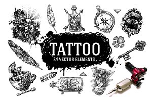 Tattoo style illustrations