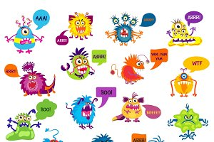 Cartoon silly monsters