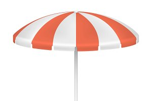 Red striped market umbrella