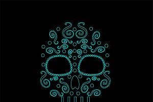 Day of the dead skull 2 collection