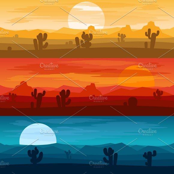 Desert Mountains Banners