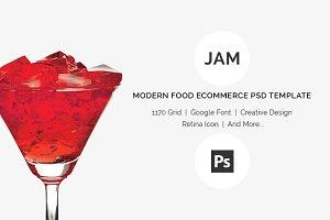 Jam - Food eCommerce PSD Template