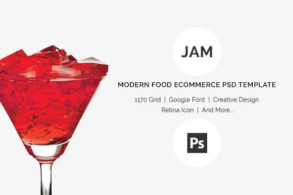 Jam Food ECommerce PSD Template