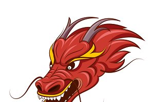 Chinese dragon vector illustration